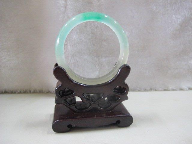 二手舖 NO.4451 天然翡翠 玉石手鐲 玉鐲 手環 玉環 首飾飾品