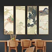 安藤廣重近江八景浮世繪日式無框畫客廳現代簡約山水裝飾畫(8款可選)