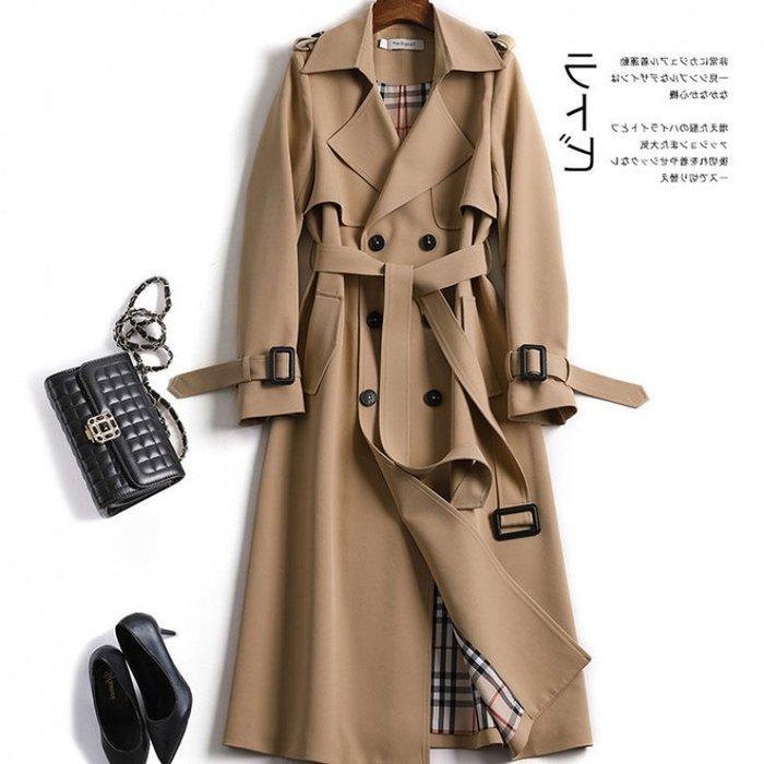 (老顧客限定價1380)風衣 #J-189 適合春秋季節  英倫長款風衣