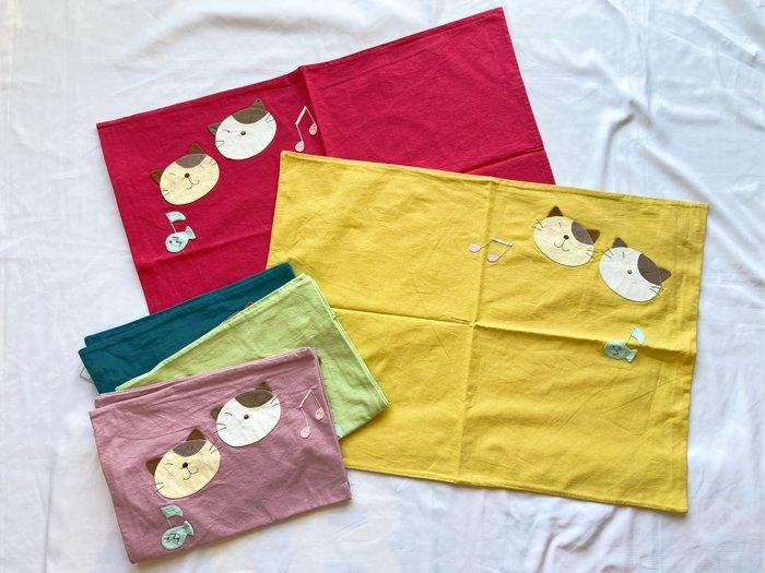 日本卡拉貓~GonPon醬音符純棉枕頭套