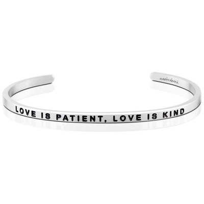 MANTRABAND Love is Patient Love is Kind 銀色 愛是恆久忍耐又有恩慈