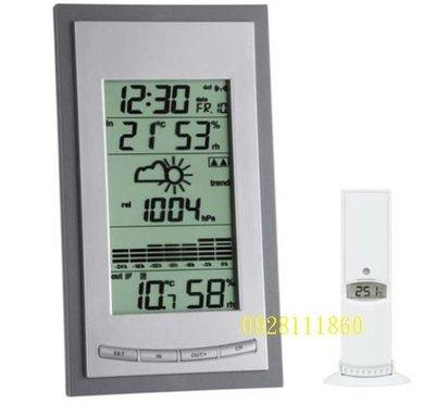 德國TFA大氣壓力計無線氣象站DIVA Plus時鐘溫溼度hpa氣象預報A9ST-35107810IT室內室外溫濕度溫度