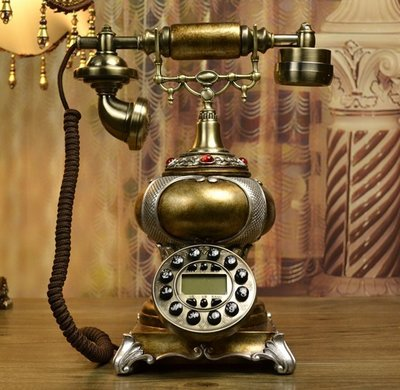 INPHIC-歐式仿舊電話機/復古電話機/固定電話座機
