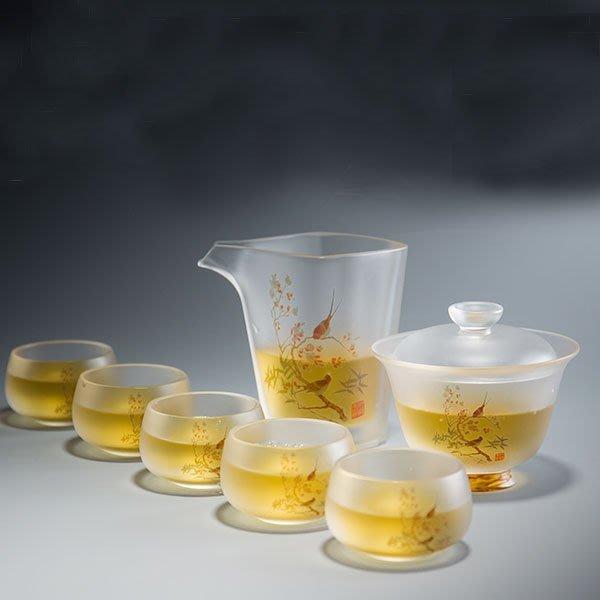 5Cgo【茗道】含稅會員有優惠 560412111630 容山堂國家博物館茶壺茶杯茶海琉璃功夫茶具套裝蓋碗公道杯主人杯品