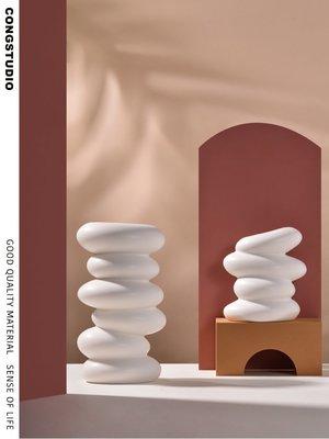 CONGSTUDIO|北歐INS風異形鵝卵石創意花器水培干花花瓶軟裝樣板房