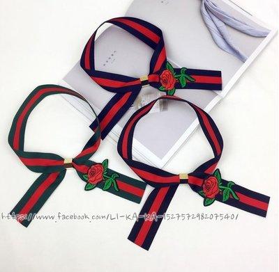 韓國惡搞 Gucci 風格玫瑰刺繡 頸鍊項鍊配件xTwilly絲巾手環髮帶 髮夾Hermes絲巾長夾 凱莉包小香風