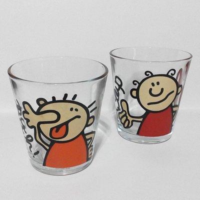 讚呸卡通玻璃對杯組