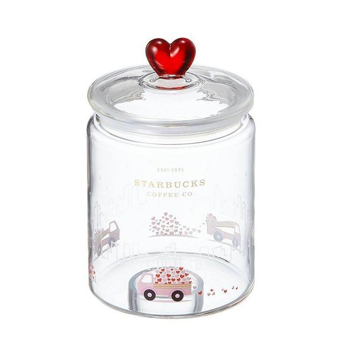 【現貨】韓國星巴克 2019粉色情人節系列--愛心傳遞玻璃罐735ml