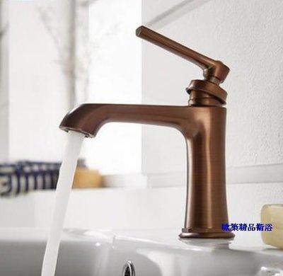 【歐築精品衛浴】BETTOR✰ 美利堅系列古典面盆龍頭-古銅色