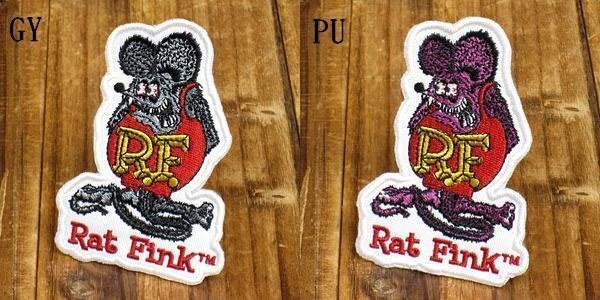 (I LOVE樂多)RAT FINK RF 布章 刺繡臂章補丁徽章US66CHOPPER old school H-D刺青TATTOO