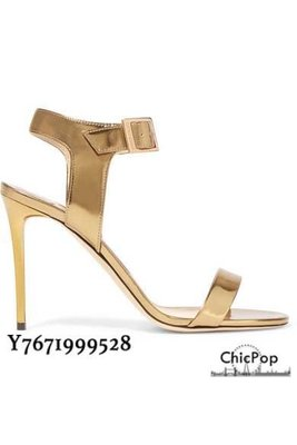 【ChicPop】JIMMY CHOO Truce 麂皮 高跟涼鞋 85mm