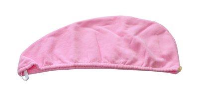 特價浴帽!! 超細纖維 素色 素面 桃粉色 浴帽 沙龍 SPA M-027