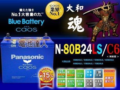 【電池達人】80B24LS 日本國際牌 汽車 電池 電瓶 CIVIC CRV H-RV YARIS ALTIS WISH