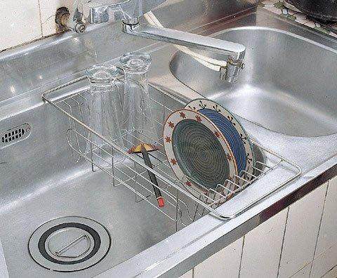 ☆成志金屬☆#304不鏽鋼 S-5水槽籃、瀝水籃架、碗盤架,304不銹鋼廚房置物架