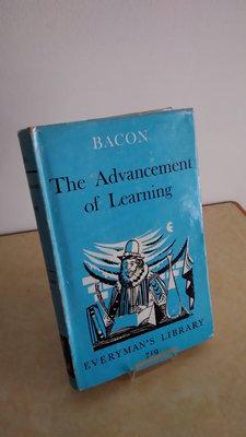 【英文舊書】[哲學] 培根哲學 The Advancement of Learning, Francis Bacon
