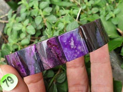 &&~紫雲軒水晶~&&【79.天然紫色系舒俱徠來石手鍊/手排 46.9g】 18圍  特惠出清價