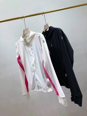 Under Armour 女士 Storm 跑步運動外套 面料防紫外線,有彈力,透氣速乾! 顏色白色,黑色