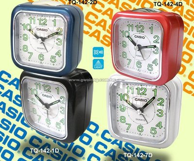 CASIO手錶專賣店 國隆 卡西歐 TQ-142 指針型鬧鐘 夜光照明_保固一年_開發票 台中市