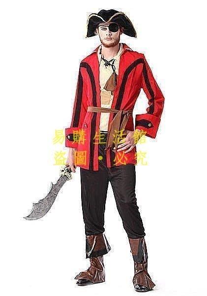 [王哥廠家直销]萬聖節化妝舞會聚會cosplay成人男款加勒比海盜服裝 加勒比海盜服裝 舞台表演出活動LeGou_615_