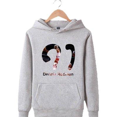🌈小蟲羅德曼Dennis Rodman長袖連帽T恤上衛衣🌈NBA公牛隊Nike耐克愛迪達運動籃球衣服大學棉T男219