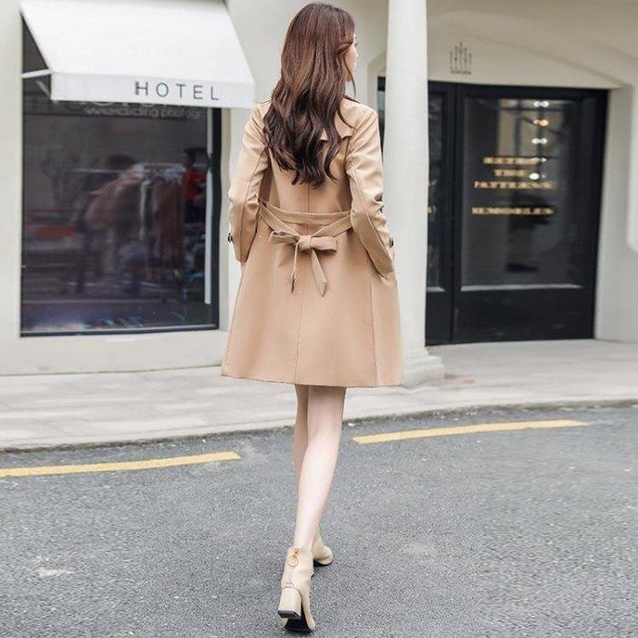 麥麥部落 女士風衣女中長款正韓春季潮新款秋裝外套服服氣質外衣端莊大氣修身款款MB9D8