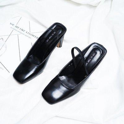 夏季女鞋子2018新款潮韓版百搭時尚粗跟高跟鞋包頭涼拖鞋性感氣質