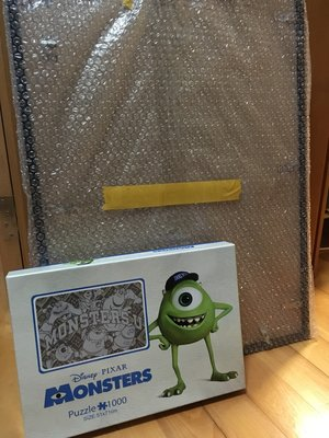 怪獸大學 1000塊拼圖 連黑色膠框