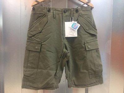 19ss visvim Eiger Sanction Shorts 春夏最新 水洗 軍短褲 口袋 工作短褲 軍綠S號