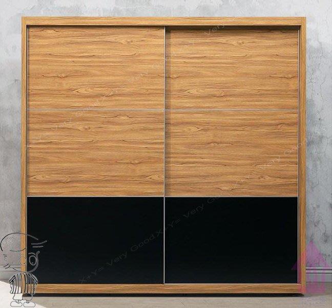【X+Y時尚精品傢俱】現代衣櫥系列-克洛澤 工業風7*7尺推門衣櫃.衣櫥.內附九宮格抽屜.摩登家具