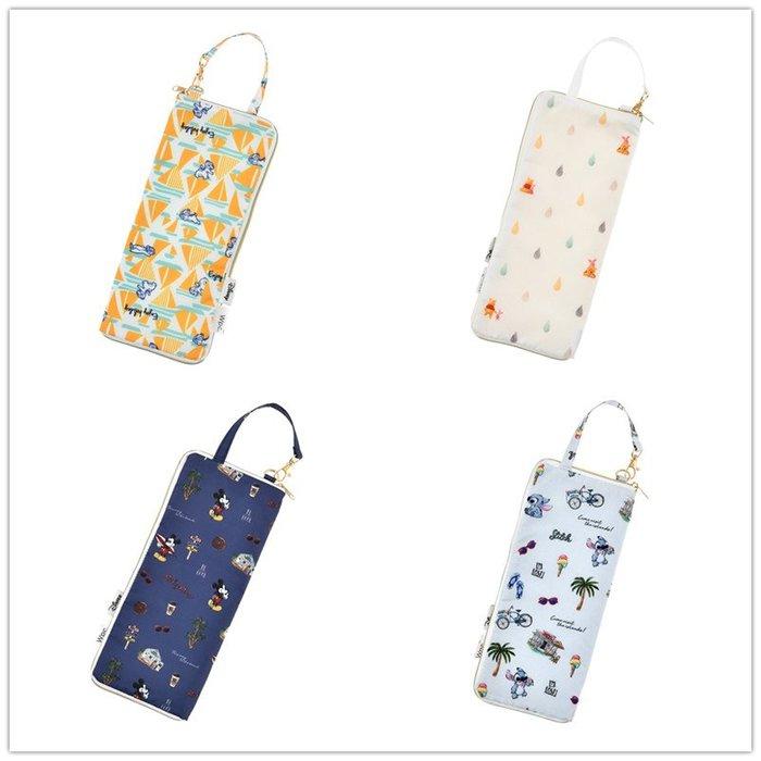 ☆Juicy☆日本 Disney 迪士尼 Wpc.維尼 米奇 奇奇蒂蒂 史迪奇 吸水 雨傘套 飲料袋 水壺套 3260