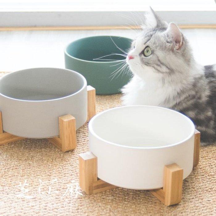 貓碗狗碗貓盆陶瓷貓咪碗架子貓飯盆貓飯碗水碗貓碗架貓咪食盆