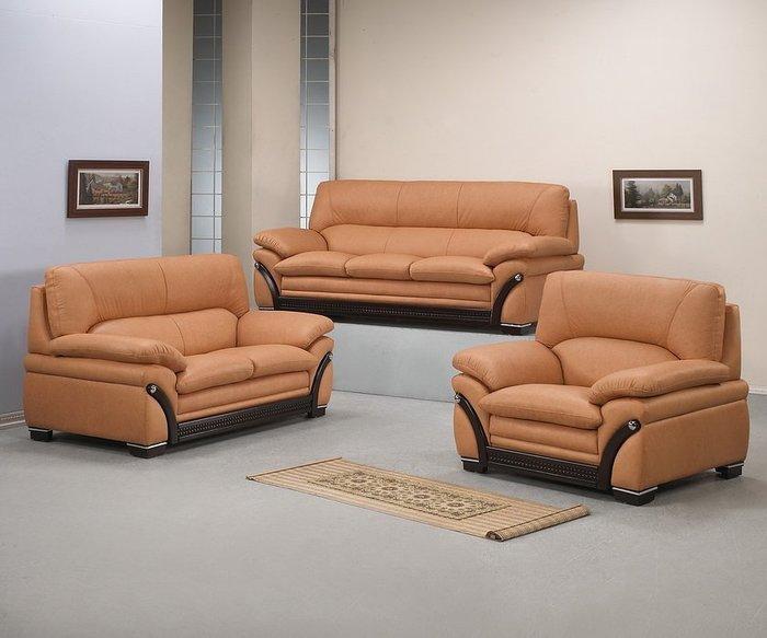 【浪漫滿屋家具】168型 超軟出木高級牛皮沙發【1+2+3】只要42800【免運】搶購優惠