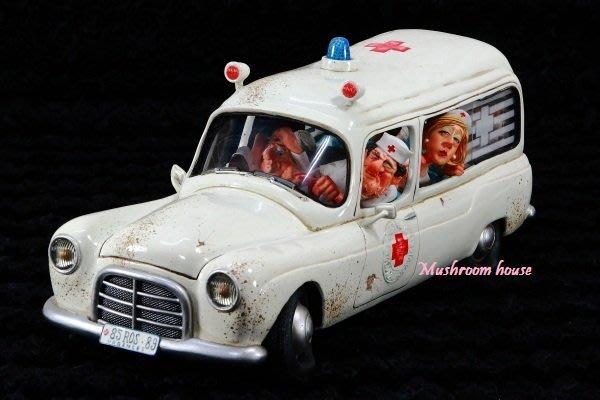 點點蘑菇屋 歐洲進口 精緻法國社會寫實派設計師FORCHINO系列擺飾-救護車 小護士