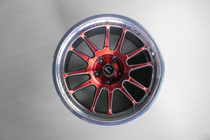 《台灣JGTC》框圈 COSMIS XT-206R 紅銀色 尺寸 inch 17 18 20 峻亞國際