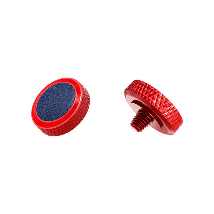 【傑米羅】JJC 機械相機 螺牙式 快門按鈕 增高鈕《純銅製 豪華版》(SRB-R 紅框藍皮) - 帶防脫圈 防鬆脫