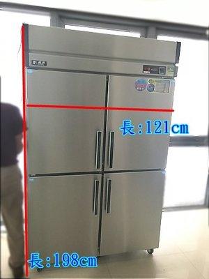萬豐餐飲設備 全新 節能4門冰箱-管冷 (全冷凍) 四門冰箱 冷凍庫 冷凍冰箱 台灣製瑞興 隱藏式管冷