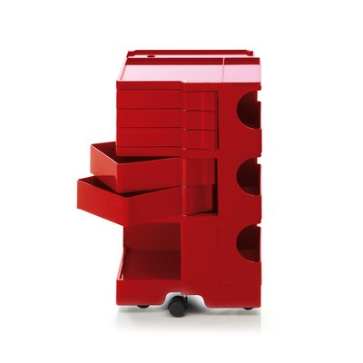 Luxury Life【預購】B-Line Boby 巴比 多層式系統 收納推車 - 高尺寸 (五抽屜收納) 紅色款