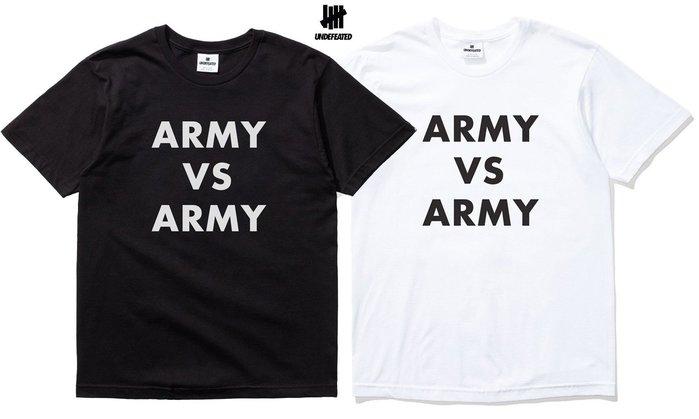 【超搶手】全新正品 最新款 UNDEFEATED ARMY vs. ARMY TEE 黑白灰S M L XL