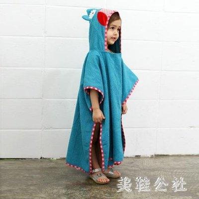 韓國割絨可愛棉質加厚浴袍兒童毛巾斗篷浴巾zzy6197