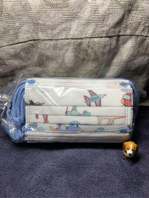 現貨康丞🌈翱翔飛機✈️+水藍扁耳繩🌈幼幼平面口罩(30入/盒)