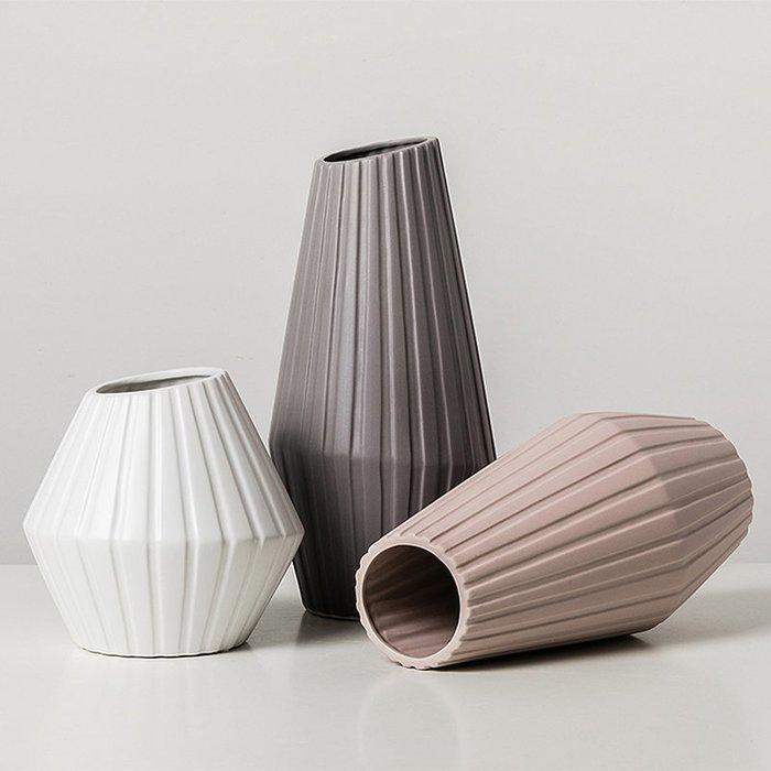 〖洋碼頭〗北歐風格創意陶瓷花瓶家居室內電視櫃裝飾品客廳插花擺件簡約現代 fjs932