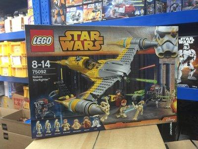 Lego 樂高 全新 Star Wars 75092 Naboo Starfighter 親子 Lego etc 積木 玩具