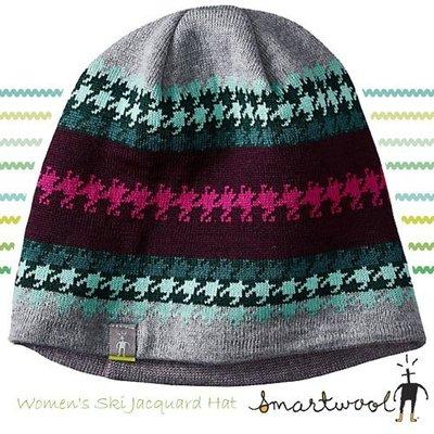 大里RV城市【美國 SmartWool】Ski Jacquard Hat 美麗諾羊毛帽/聰明羊防風保暖針織帽 SC233