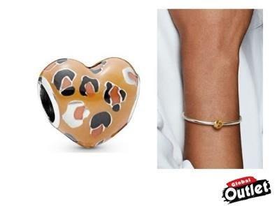 【全球購.COM】PANDORA 潘朵拉 琺瑯新款豹紋愛心串珠 925純銀 美國正品代購