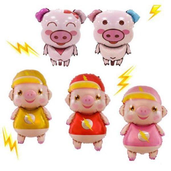 豬年小豬寶寶人偶鋁膜氣球  佈置【NY0039】《Jami Honey》