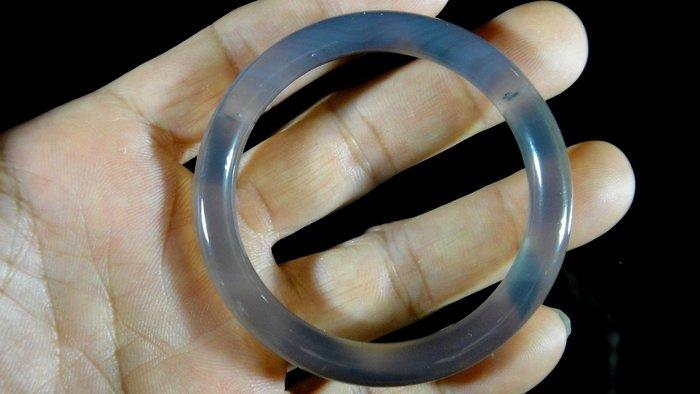 [福田工藝]天然瑪瑙玉鐲/手鐲/手環/內徑5.3cm外徑6.8cm手圍:17.5[瑪鐲11]