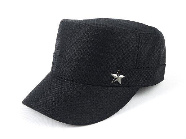 【二鹿帽飾】新款廚師帽 -加高硬挺(透氣布)最新潮流時尚新風格 /1顆星 透氣 軍帽-MIT-紳士黑