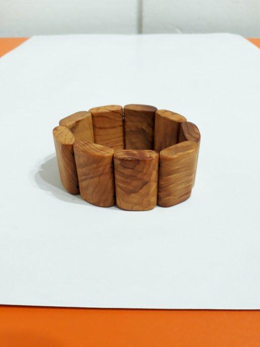 【九龍藝品】崖柏手排~折花.手排版寬約35mm,約49公克【2】競標
