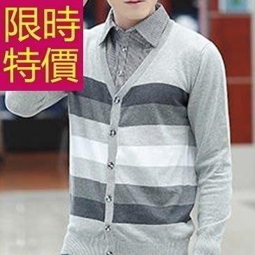 假兩件式襯衫 復古薄款-保暖精美長袖男毛衣3色59ac12[韓國進口][米蘭精品]