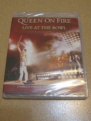 美版2DVD《皇后合唱團》火線悍將現場演唱會全紀錄/On Fire Live at the Bowl全新未拆